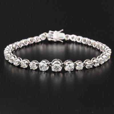 14K 5.52 CTW Graduated Diamond Bracelet