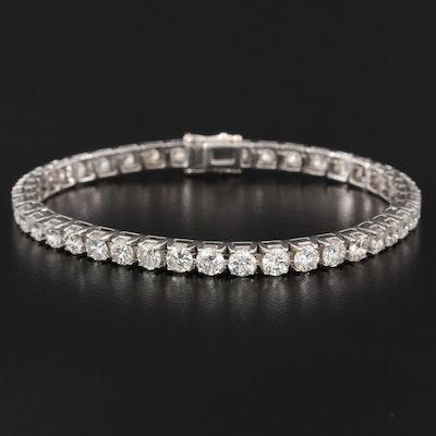 18K 8.53 CTW Diamond Line Bracelet