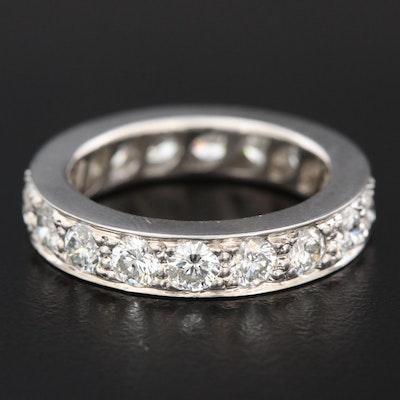 Vintage Platinum 2.77 CTW Diamond Eternity Band