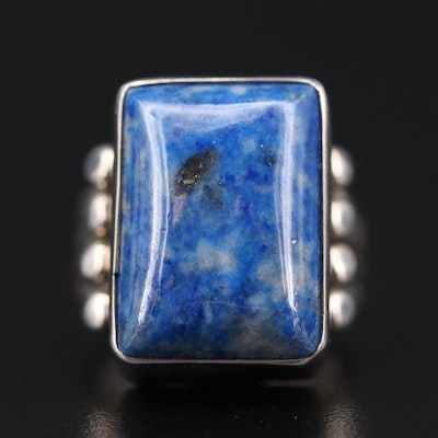 Roie Jaque Navajo Diné Sterling Silver Lapis Lazuli Ring