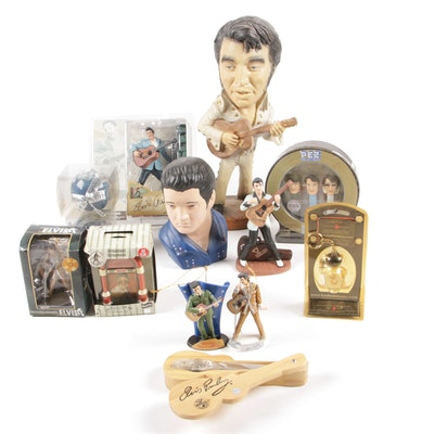 Elvis Presley Themed Figures, Toys, Christmas Ornaments and Decor