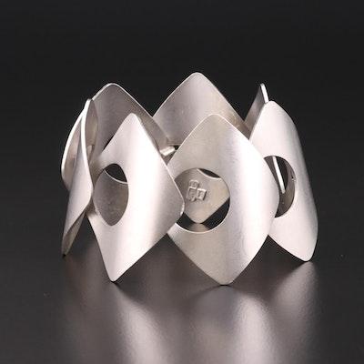 Italian Modernist Sterling Silver Bracelet
