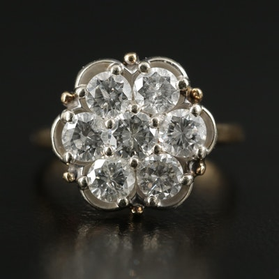 14K Gold 1.96 CTW Diamond Ring