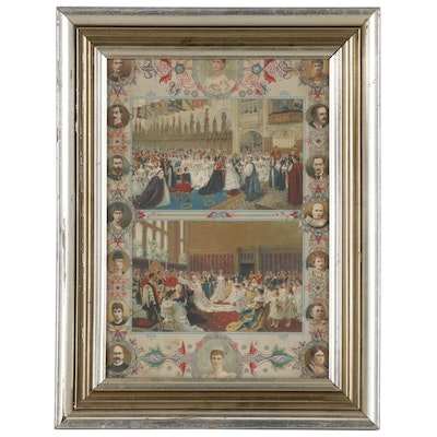 Queen Victoria Diamond Jubilee Commemorative Chromolithograph, 1897