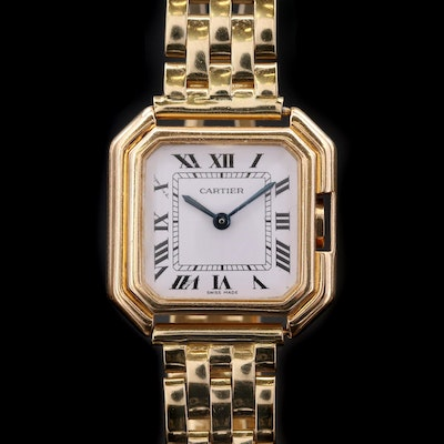 18K Gold Cartier Ceinture Wristwatch, Vintage