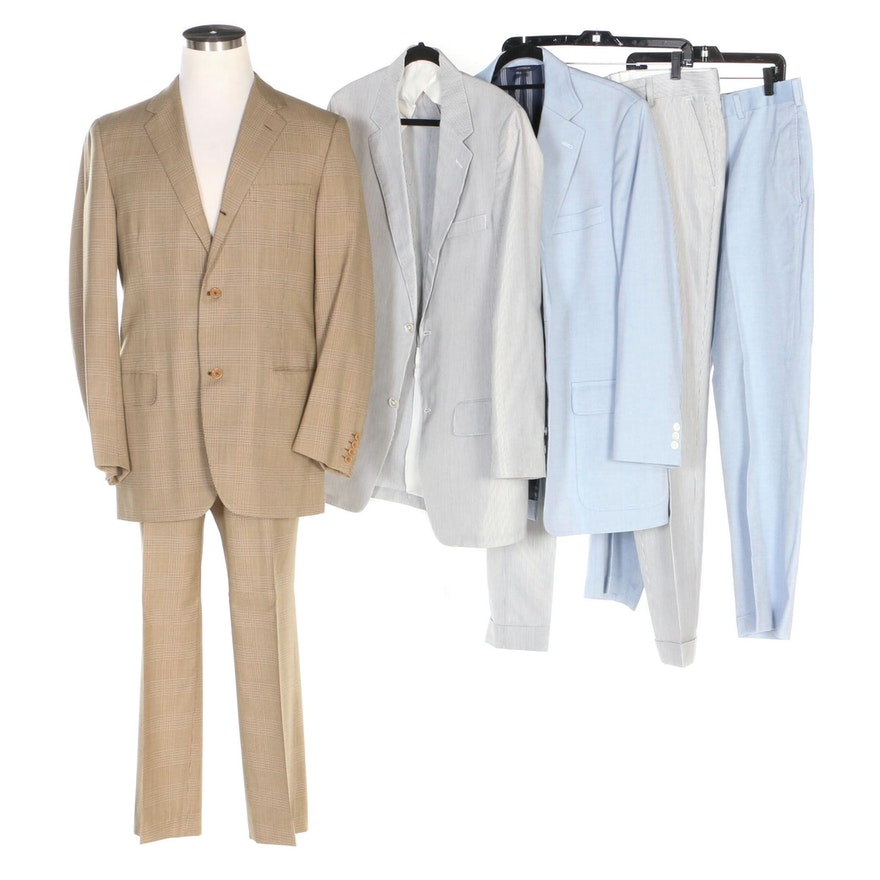 Men S Brooks Brothers And J Press Summer And Transitional Suits Ebth