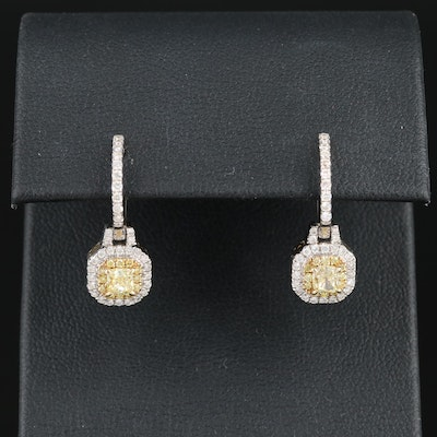Gregg Ruth 14K White Gold Diamond Earrings