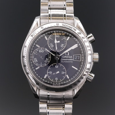 Omega Speedmaster Date Stainless Steel Automatic Wristwatch