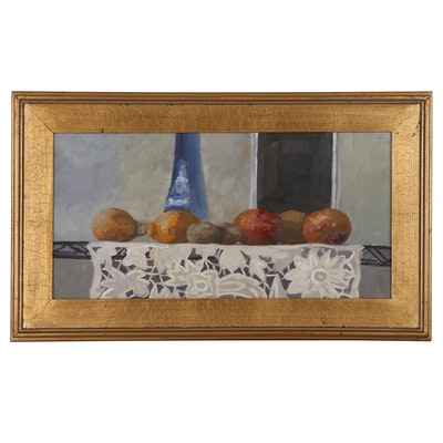 """Kaz Ooka Oil Painting """"Still Life with Fruit no.2"""""""