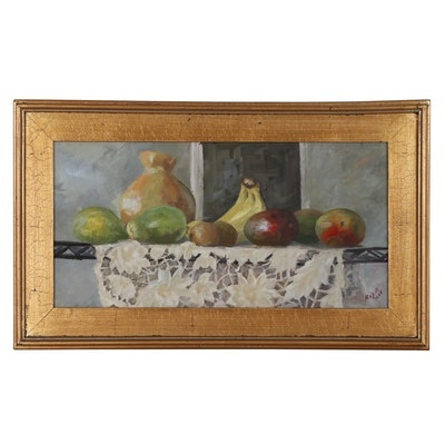 "Kaz Ooka Oil Painting ""Still Life with Fruit no.1"", 2005"