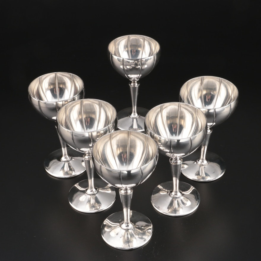 Knickerbocker Silver Co. Small Silver Plate Goblets, Early to Mid 20th Century