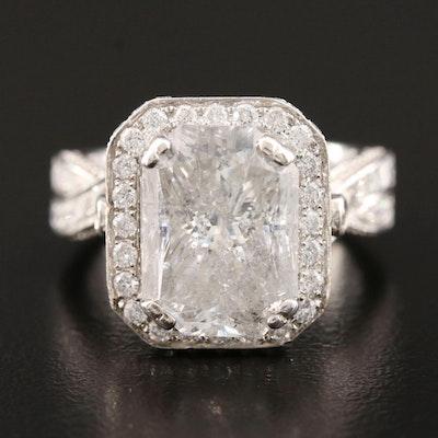 14K White Gold 8.28 CTW Diamond Ring