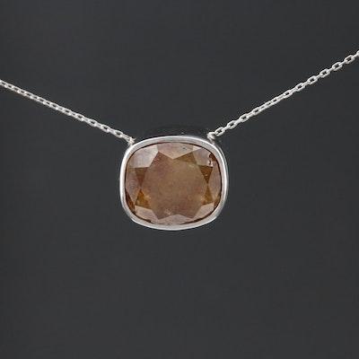 Platinum Brown Diamond Necklace