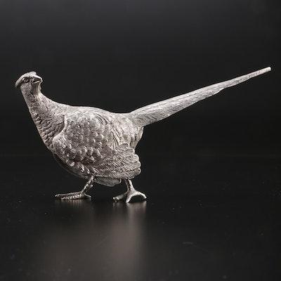 C. J. Vander Sterling Silver Pheasant Figurine