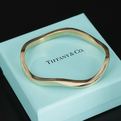 Tiffany & Co 18K Wave Bracelet
