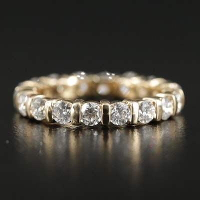 14K Yellow Gold 1.80 CTW Diamond Eternity Band