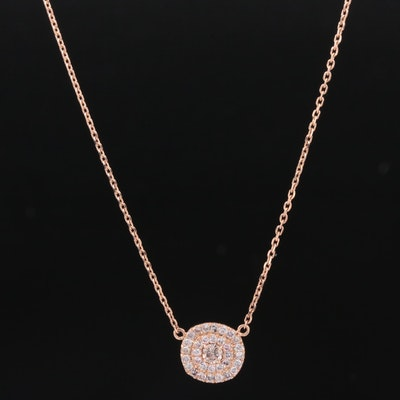 14K Gold Diamond Necklace with GIA Report