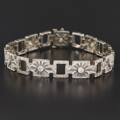 Edwardian 18K Gold Diamond Bracelet