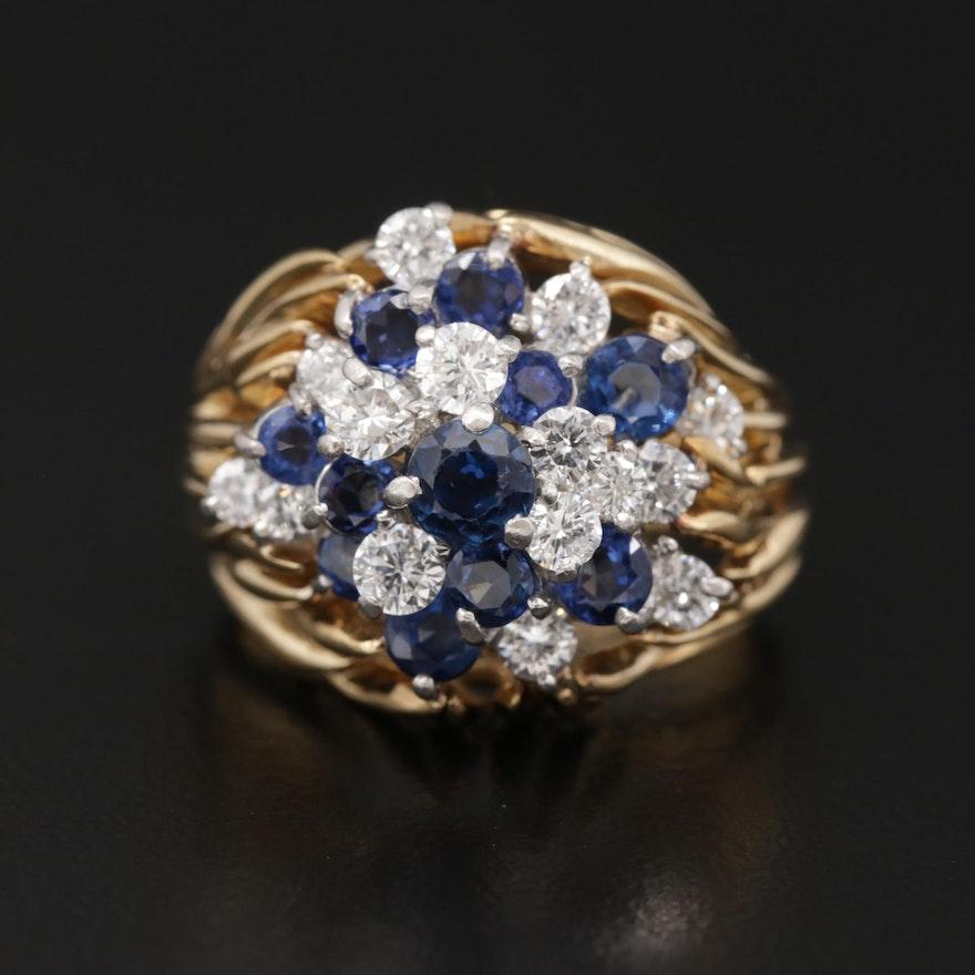 Kurt Wayne 18K Gold Sapphire and Diamond Ring