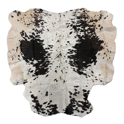 4'0 x 4'3 Natural Spotted Cowhide Area Rug