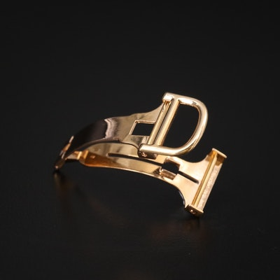 18K Yellow Gold Cartier Deployment Clasp for 16.00 MM Band
