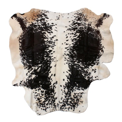 4'5 x 4'7 Natural Spotted Cowhide Rug