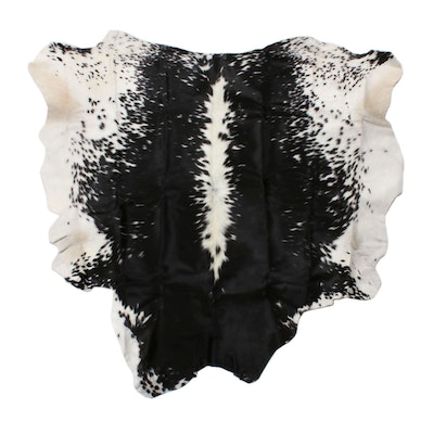 5'2 x 5'3 Natural Spotted Cowhide Rug
