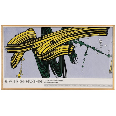 Roy Lichtenstein Serigraph Exhibition Poster, 1992