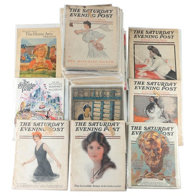 """""""The Saturday Evening Post,"""" """"Home Arts,"""" and """"Fortune"""" Magazines, 20th Century"""