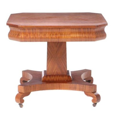 Empire-Revival Cherry and Mahogany Center Table, Late 19th Century