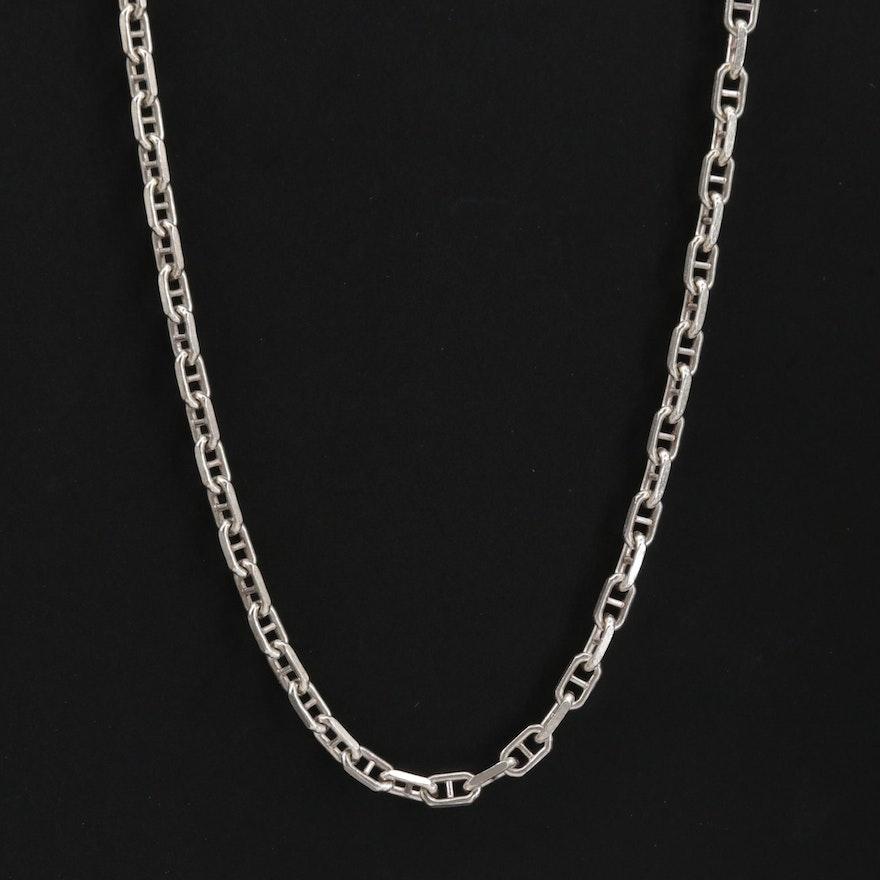 Sterling Silver Mariner Link Necklace