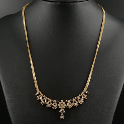 14K and 18K Gold 2.08 CTW Diamond Necklace