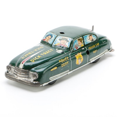 Marx Dick Tracy Tin Lithograph Wind-Up Squad Car, circa 1940s