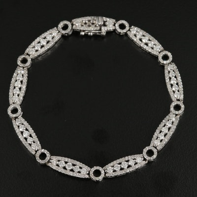 14K White Gold 2.39 CTW Diamond Bracelet