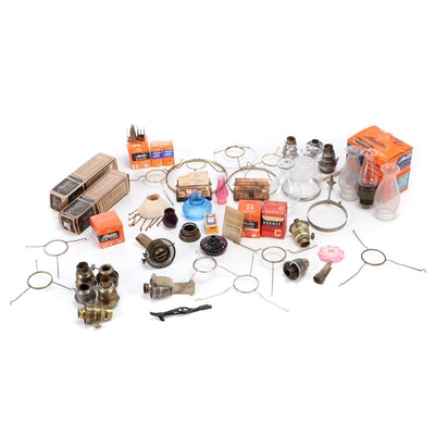 Aladdin Oil Lamp Chimneys, Parts and Accessories