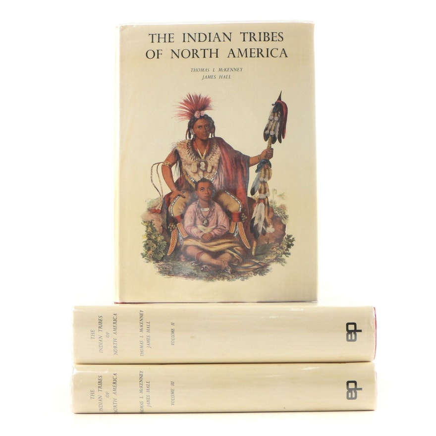 """First American Edition """"The Indian Tribes of North America"""", Three Volume Set"""