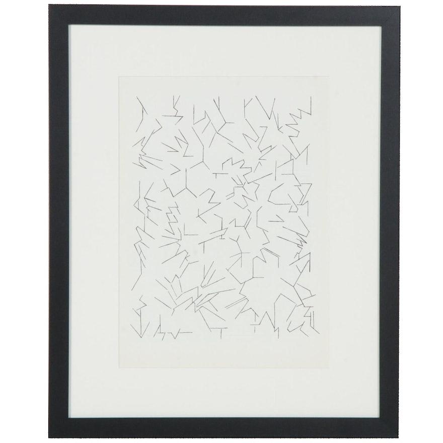 """Pablo Palazuelo Lithograph for """"Derrière le Miroir"""", 1970"""