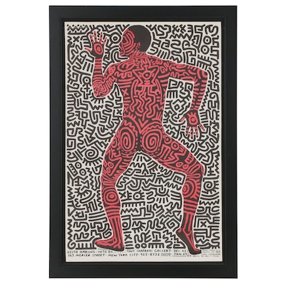 "Tony Shafrazi Gallery Exhibition Poster for Keith Haring ""Into 84"""