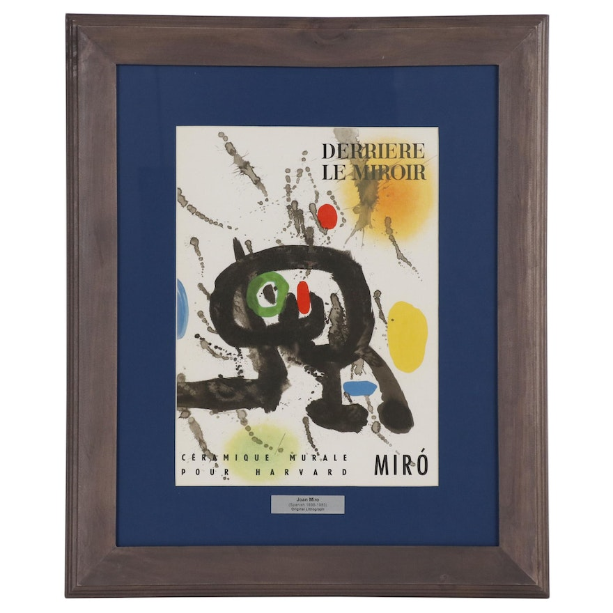 "Joan Miró Lithograph Cover for ""Derrière le Miroir"", 1961"