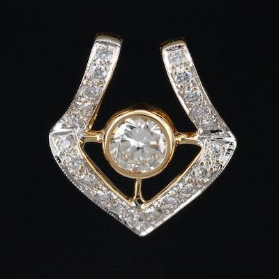 18K Gold 1.27 CTW Diamond Slide Pendant