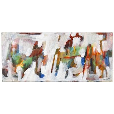 Leonard Maurer Abstract Tempera Painting, 1969