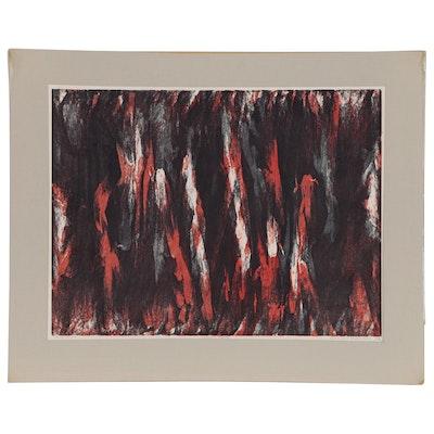 "Leonard Maurer Relief Print ""Secret Place"", 1968"