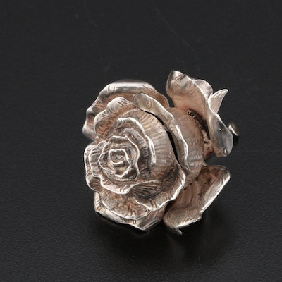 Sterling Silver Vinaigrette in the Form of a Rose