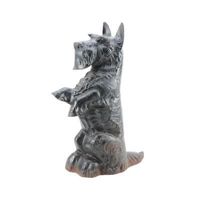 """17"""" Cast Iron Scottish Terrier Doorstop"""