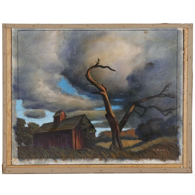 "Joseph Di Gemma Oil Painting ""Deserted Farm"""