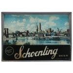 Schoenling Illuminated Advertising Sign with Cincinnati Riverfront Scene