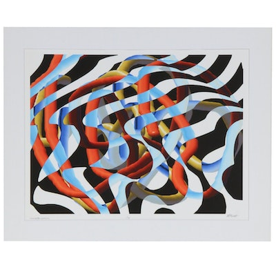 "James Massena March Op Art Inkjet Print ""Wave Motion Series #2"""
