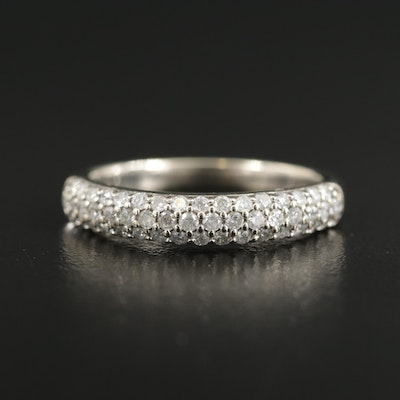 14K White Gold Pavé Diamond Ring