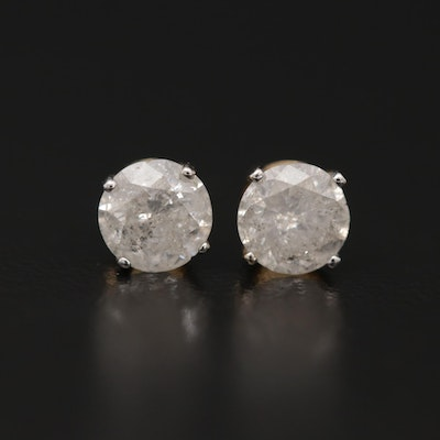 14K Gold 0.99 CTW Diamond Stud Earrings