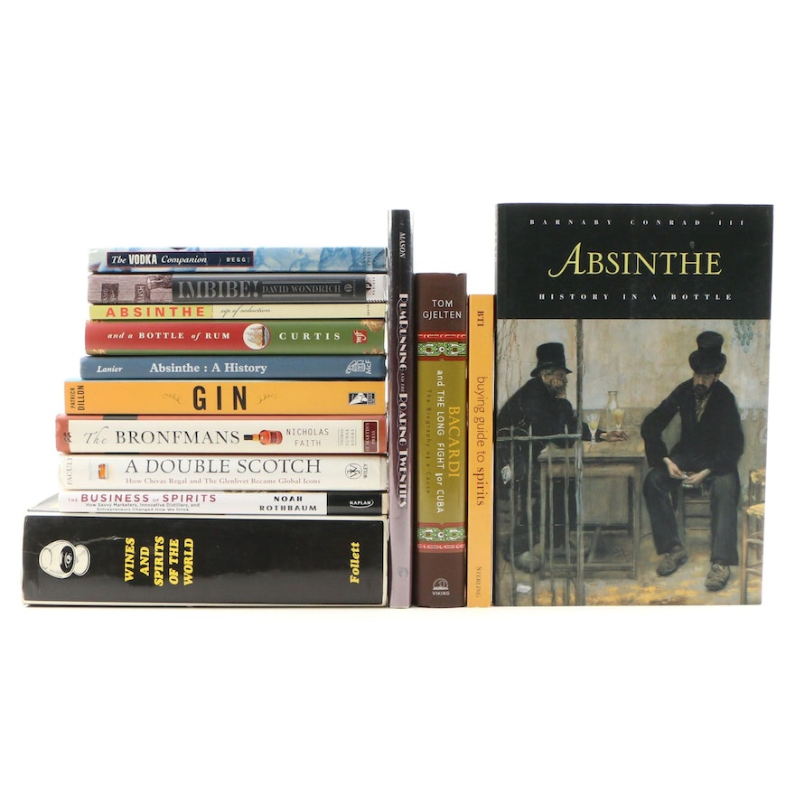 """""""Absinthe: History in a Bottle"""" with Absinthe, Gin, Rum and Other Spirit Books"""
